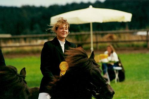 Kolbrún frá Sauðarkróki mit Silvia auf der Südbayrischen Meisterschaft 1995